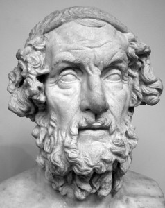 The bust of Homer at the British Museum